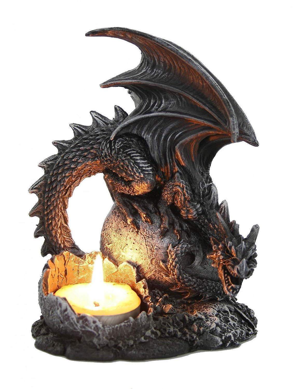 Drachen Teelichthalter Dragon Figur Kerzenhalter Gothic Drache