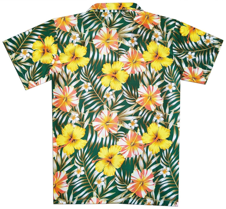 Virgin Crafts Classic Hawaiian Shirt for Men Button Town Short Sleeve Aloha