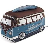 Officielle VW camping-car étanche en néoprène pour homme Trousse de toilette Trousse de toilette–Bleu + Marron