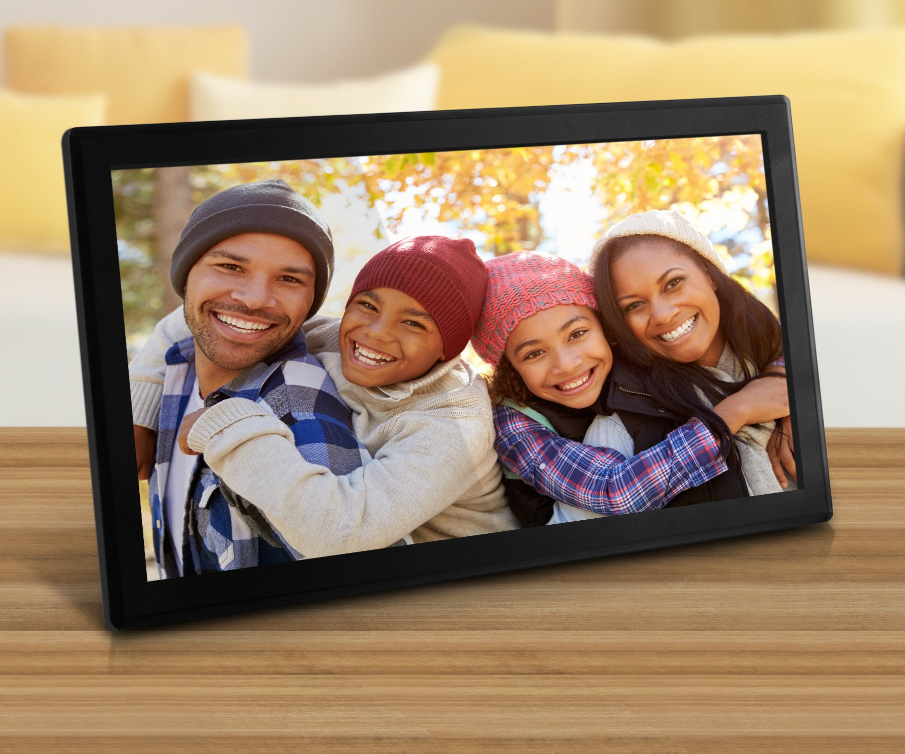 Aluratek (AWDMPF117F) 17.3'' Hi-Res WiFi Digital Photo Frame with Touchscreen IPS LCD Display & 8GB Built-in Memory (1920 x 1080 Resolution), Photo/Music/Video Support, Wall Mountable by Aluratek (Image #5)