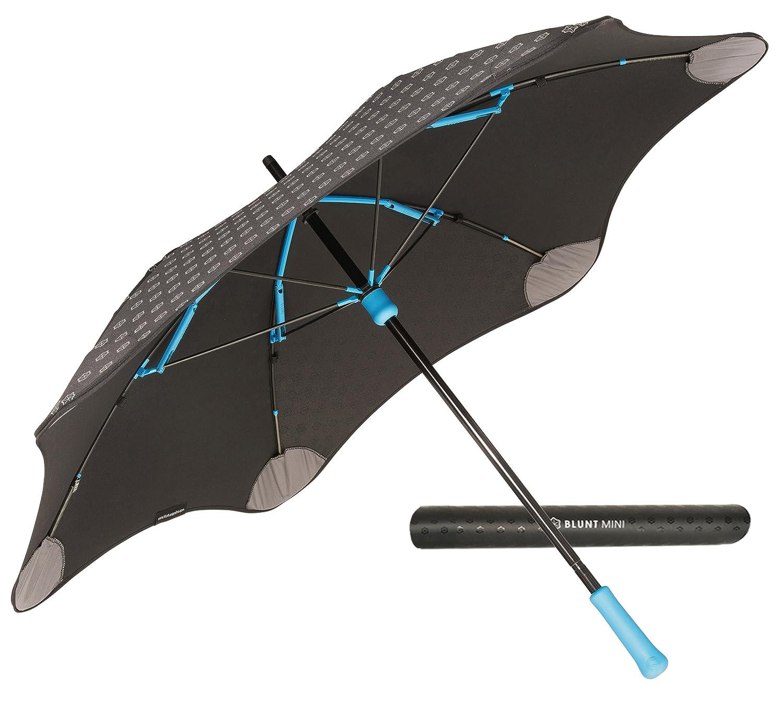 【正規輸入品】 ブラント ミニ プラス 全4色 長傘 手開き ブルー 6本骨 53cm グラスファイバー骨 耐風傘 A1454-74 B009MMSVDK ブルー ブルー