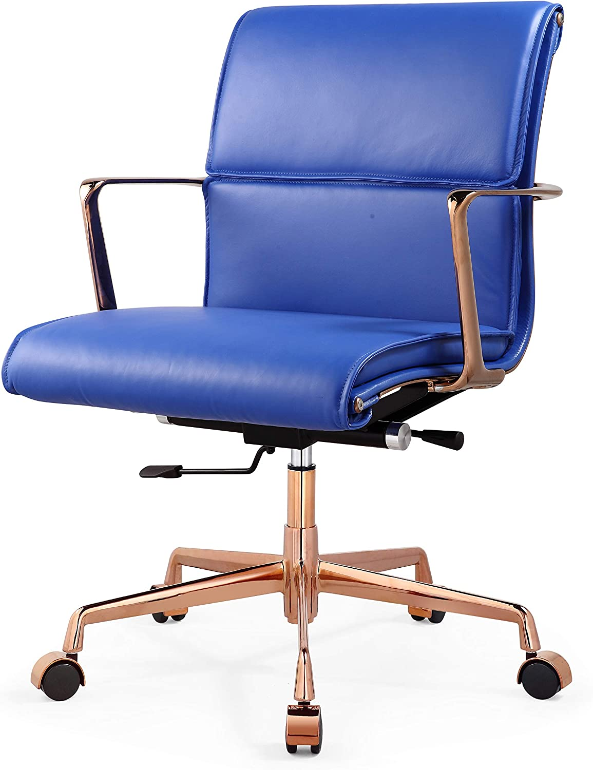 MEELANO Office Chair, One Size, Rose Gold Cobalt Blue