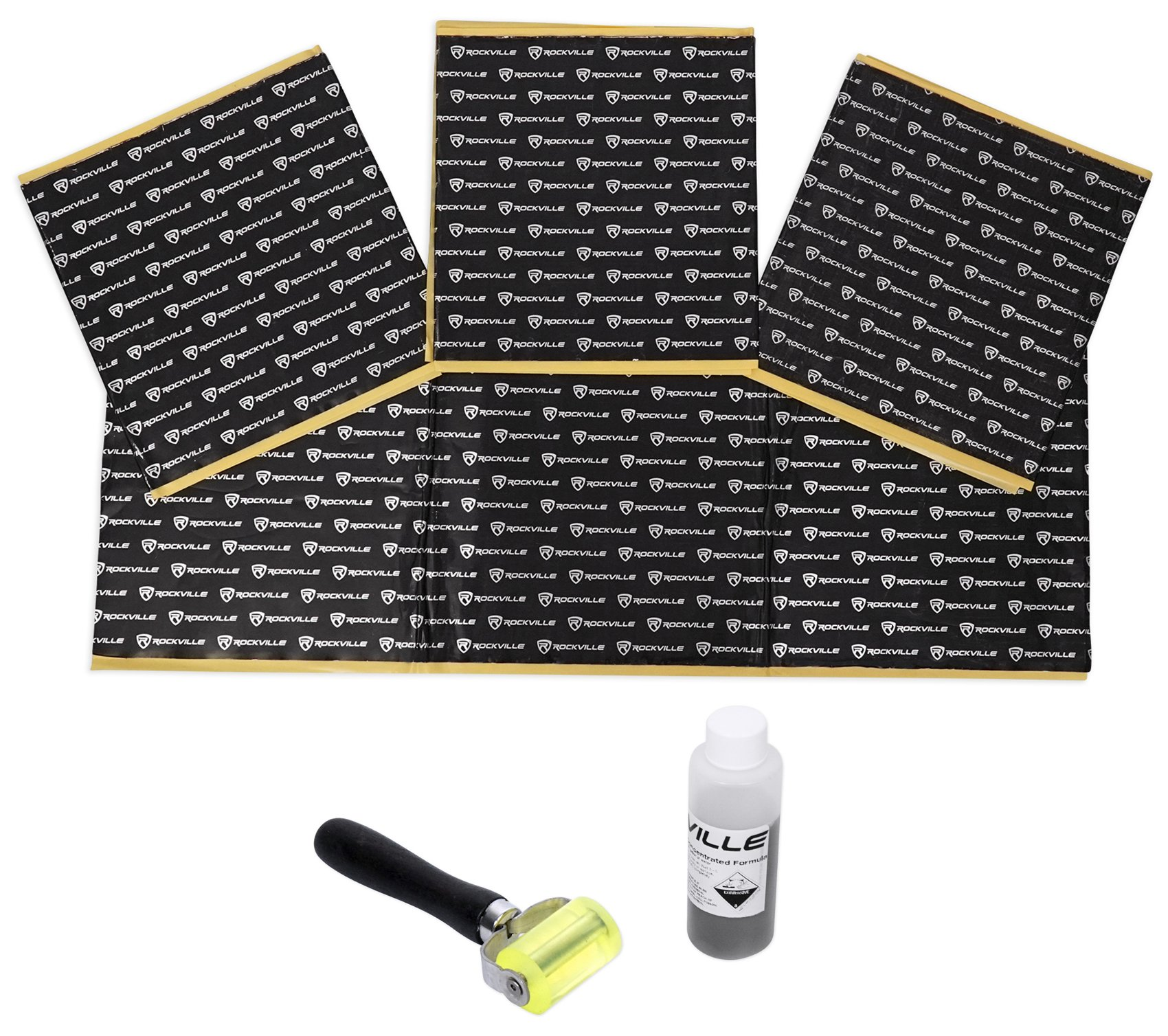 Rockville Rockmat RM12-B 12 Sq Ft Sound Dampening/Deadening Butyl Rubber Car Kit