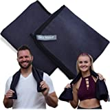 Seca Towels Best Gym Towels for Men & Women (2 Pack), Microfiber Exercise Sports Towel Set, Premium Fitness Sport Sweat Towel, Quick Drying Technology, Stay Cool While You Workout, Super Absorbent
