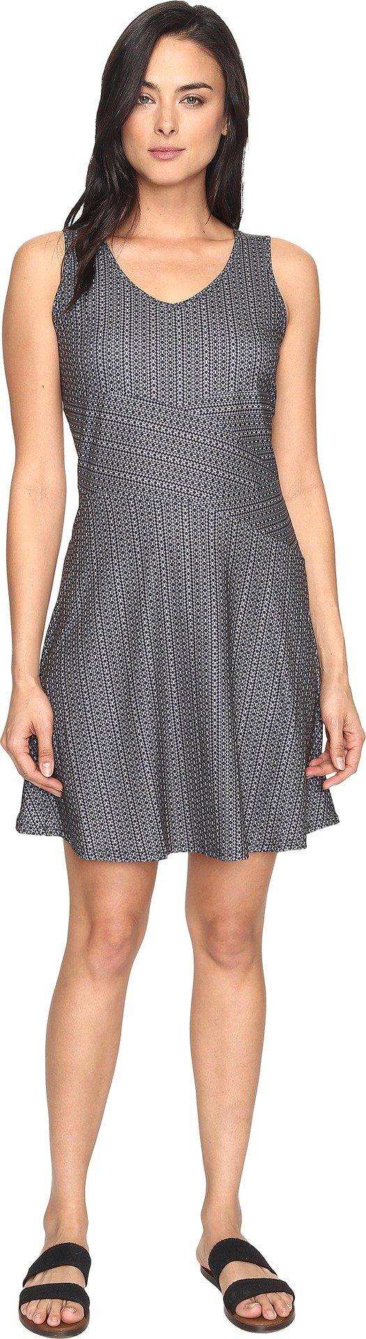 prAna Women's Amelie Dress, Charcoal Parade, Medium