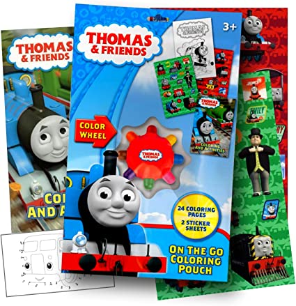 Amazon.com: Thomas The Train On The Go Coloring Activity Set With Stickers, Coloring  Book Pages, And Coloring Wheel Bundled With Separately Licensed GWW  Activity Sticker: Toys & Games
