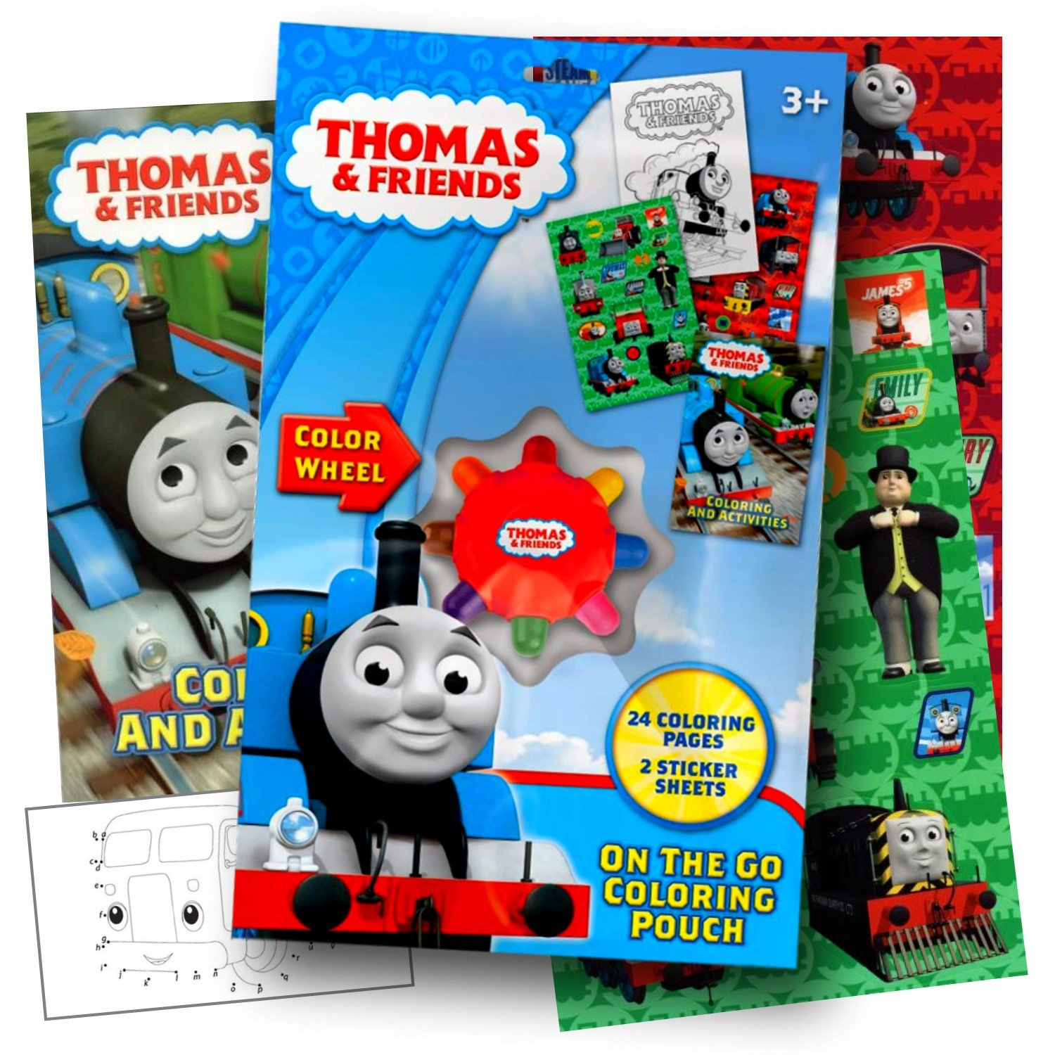 amazon com thomas the train on the go coloring pouch activity set