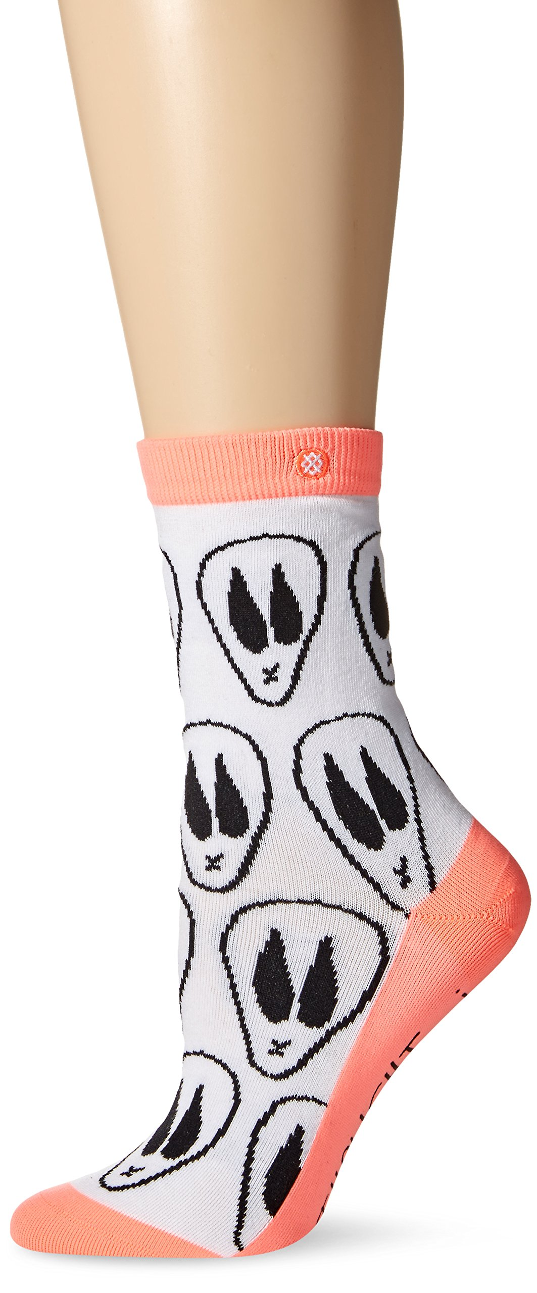 Stance Women's I Thought I Was an Alien Anklet Sock, White, Small