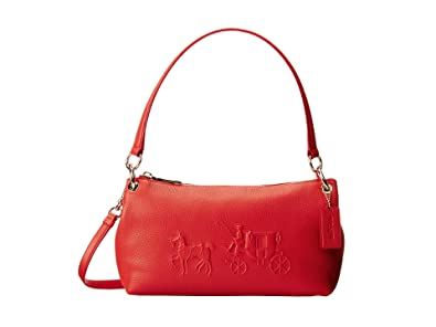 049a9376b1af COACH Women s Embossed Horse and Carriage Charley Crossbody LI Watermelon Cross  Body