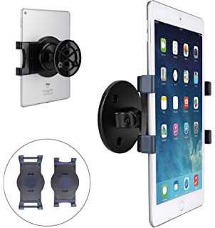 AboveTEK IPad Wall Mount, Swivel 360° Rotating Tablet Holder W/two Brackets  To