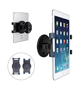 "AboveTEK iPad Wall Mount, Swivel 360° Rotating Tablet Holder w/Two Brackets to Fit 6-13"" Tablets, Horizontal/Vertical Tilt iPad Arm for Flexible Viewing Angles in Kitchen House Showroom Retail Store"