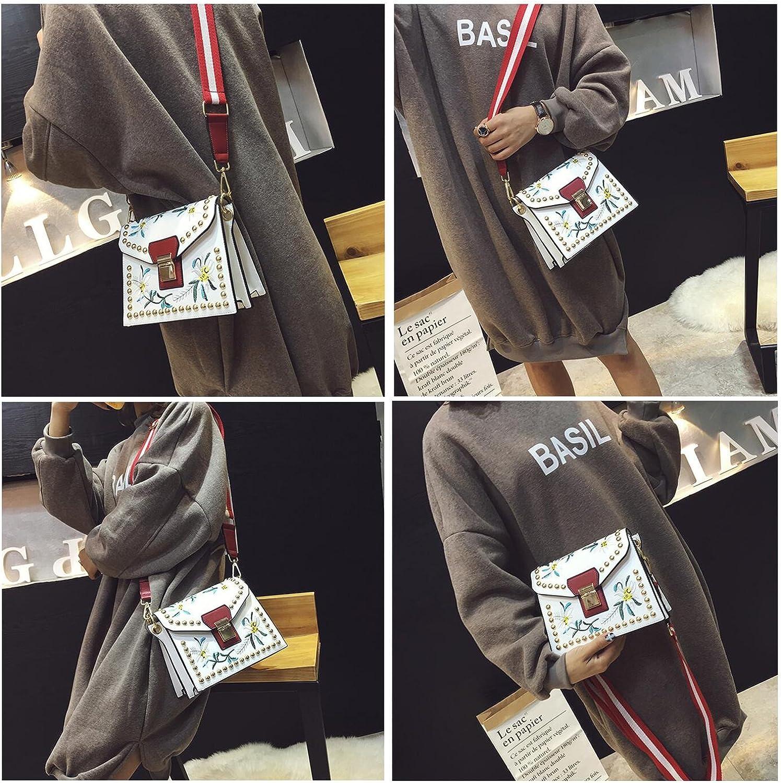 Embroidery Style Crossbody Bag Satchels Top-Handle Bags For Girls Women ZIIPOR Womens Shoulder Bags