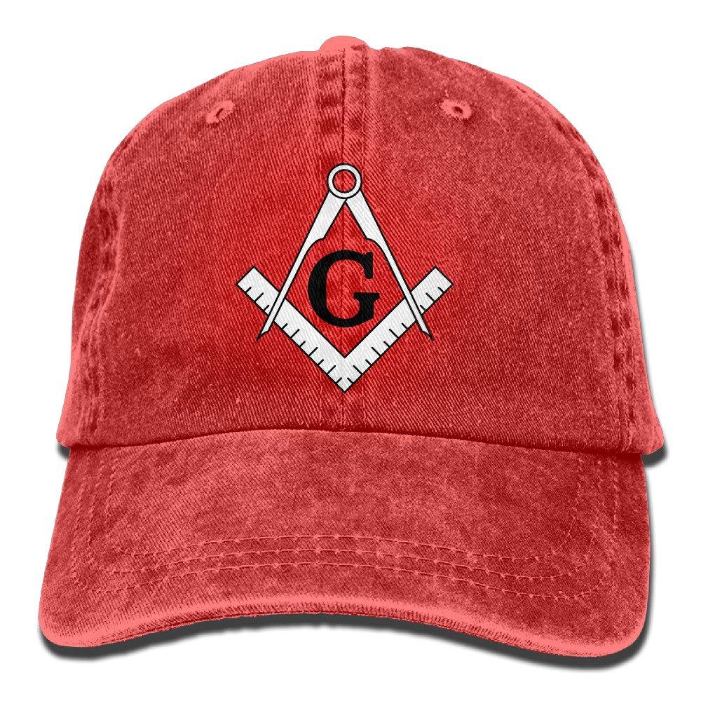 Man Freemason Logo Square & Compass 1 Adult Perfect Cowboy Hat