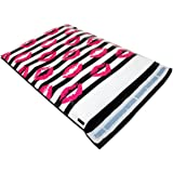 """[ 100 - 10"""" X 13"""" ] PackItChic - Pink Sexy Lipstick Kiss Mark Striped Custom Poly Mailer Envelope Shipping Bags, Tear Proof & Self Adhesive (Other Designs Available)"""