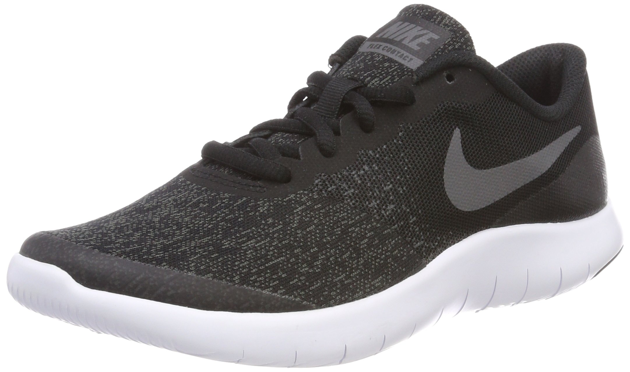 Nike Kids Flex Contact (GS) Black/Dark Grey/Anthracite Running Shoe 5.5 Kids US by Nike