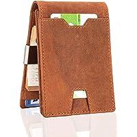 Hornbull Tan Hunter Genuine Leather High Quality Money Clip Wallet