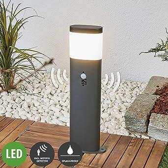LED Außenleuchte Edelstahl mit Bewegungsmelder Wegeleuchte Pollerleuchte Garten