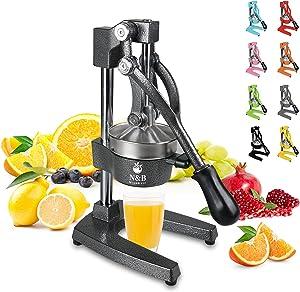 Commercial Grade Citrus Juicer Professional Manual Citrus Press Orange Squeezer Heavy Duty Manual Orange Juicer Metal Lemon Squeezer Premium Quality 2021 Upgrade,Gray