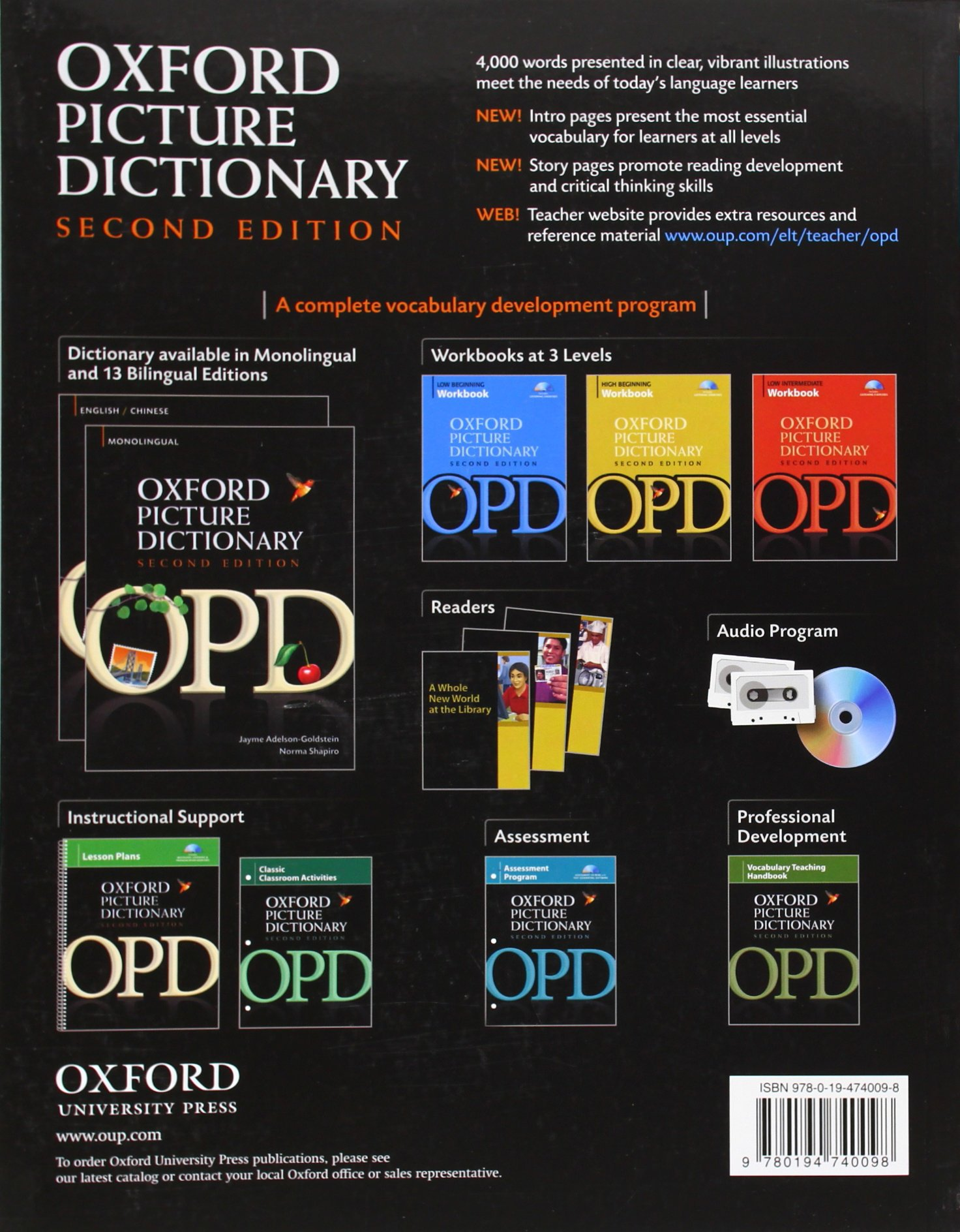 Oxford Picture Dictionary Second Edition: English-Spanish Edition:  Bilingual Dictionary for Spanish-speaking teenage and adult students of  English.