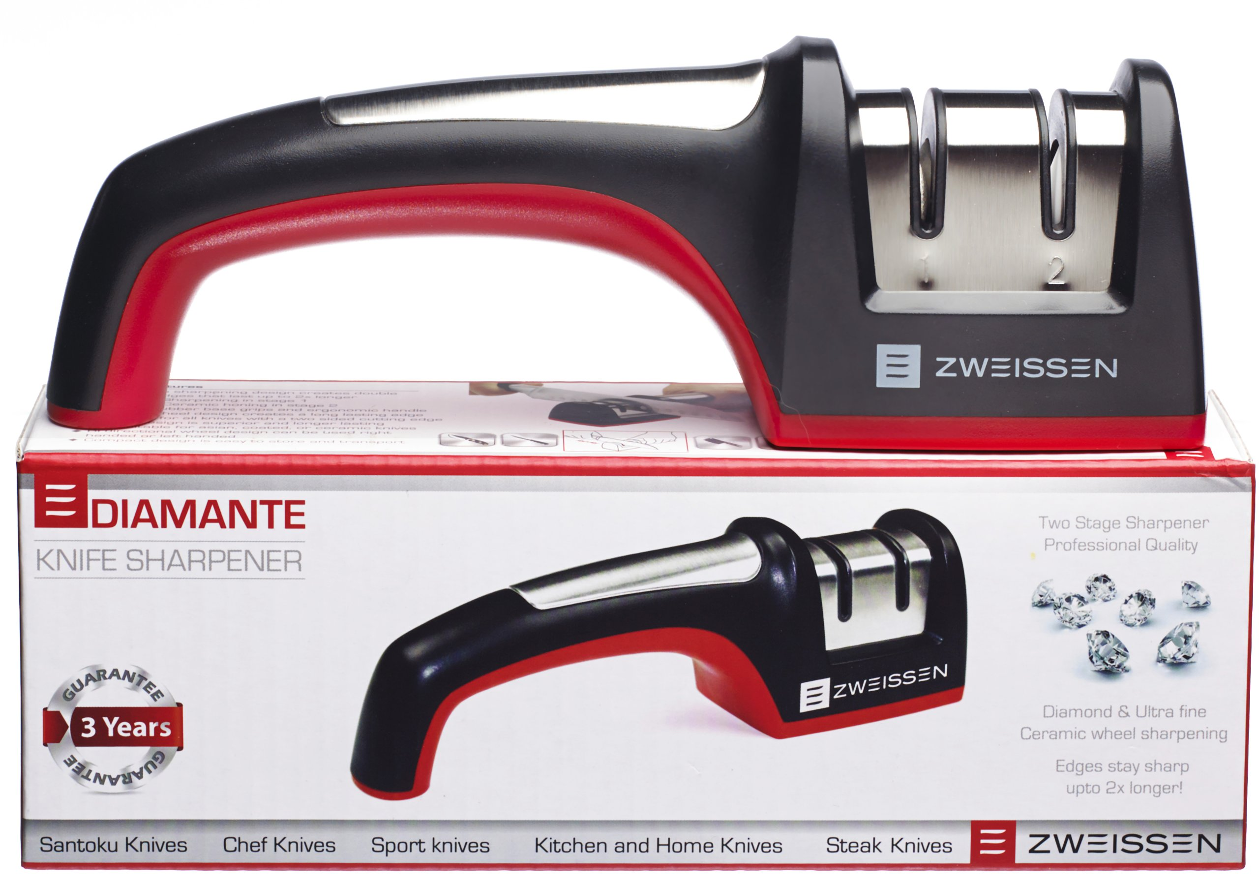 Zweissen Diamante 2-Stage Diamond Grit Knife Sharpener
