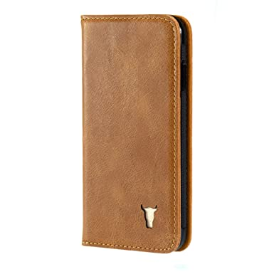 factory authentic 25e92 db04a TORRO Premium Leather Case compatible with iPhone 8. Genuine Leather ...