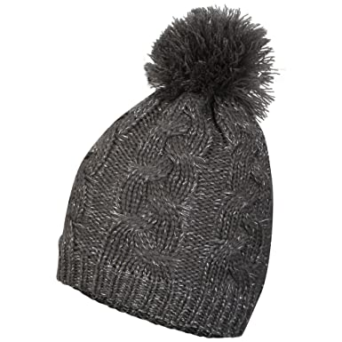 i-Smalls Women s Thinsulate Waterproof Windproof Thermal Bobble Beanie Hat  (One Size) Grey 5ec9fdd5be4