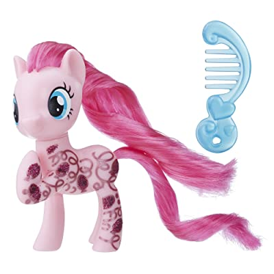My Little Pony Pinkie Pie Glitter Design Pony Figure: Toys & Games
