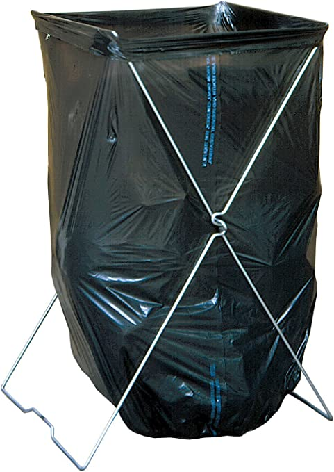 Folding Trash Bag Stand Holds Bags As Large As 33 Gallons Heavy Duty New