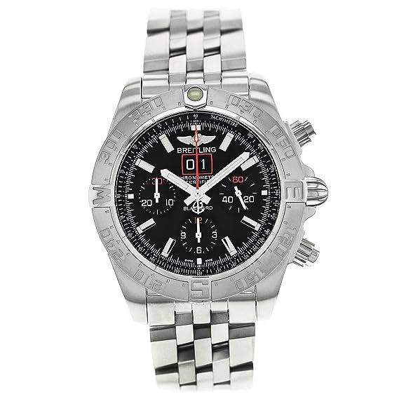 Breitling a4436010bb71371a - Reloj para hombres, correa de acero inoxidable color acero