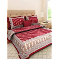 JAIPUR PRINTS King Size 1 Double bedsheet with Pillow Cover Cotton King Size Double Bedsheet with 2 Pillow Cover