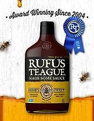 Rufus Teague HONEY SWEET BBQ SAUCE – 16oz Bottle – World Famous Kansas City BBQ – Thick & Rich made with Premium Ingredients. Award Winning – Gluten-Free, Kosher & Non-GMO