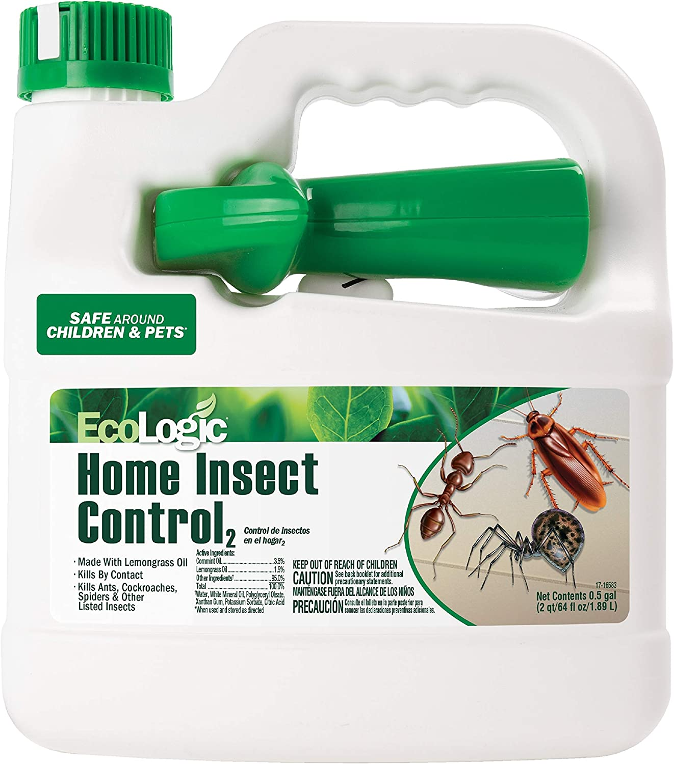 EcoLogic HG-75026 Home Insect Control, 64fl oz, Kills Ants, Spiders, More
