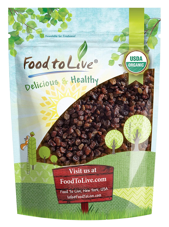 Turkish Organic Raisins, 2.5 Pounds — Sun Dried Thompson Seedless Select Grapes, Non-GMO, Raw, No Sugar added, Pesticide-Free, Kosher, Vegan, Lightly Coated with Organic Sunflower Oil