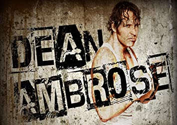 amazon com poster wwe dean ambrose wrestling usa posters prints