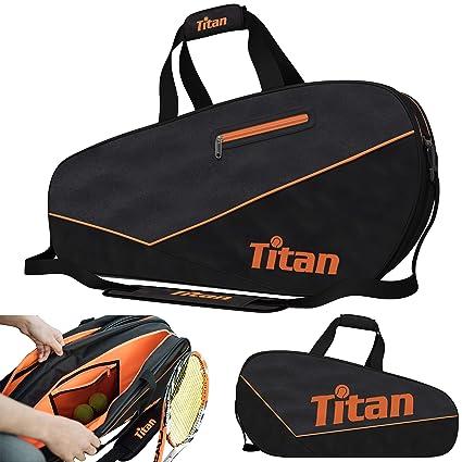 Amazon.com: Titan - Bolsa de tenis Pro 6 con 4 bolsillos ...