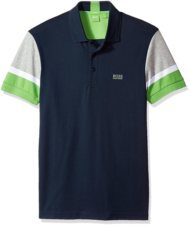 Hugo Boss Hombres Camisa Polo - Azul -: Amazon.es: Ropa y accesorios