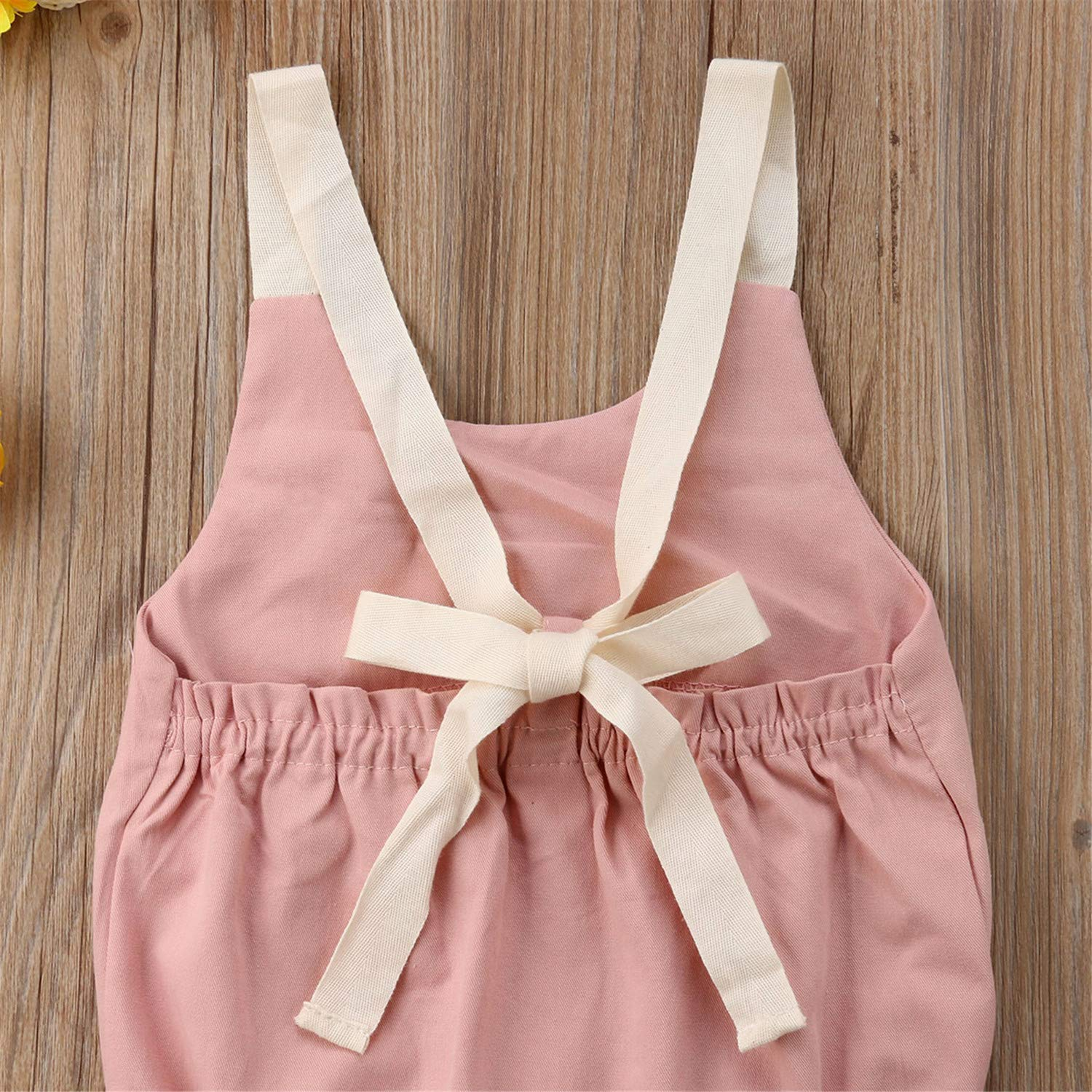 Giles Abbot Toddler Baby Girls Boys Summer Cute Romper Sleeveless Solid Backless