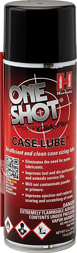 Amazon.com: Hornady 9991 One Shot Spray Case Lube with DynaGlide Plus (5 fl Oz Aerosol),Red: Sports & Outdoors