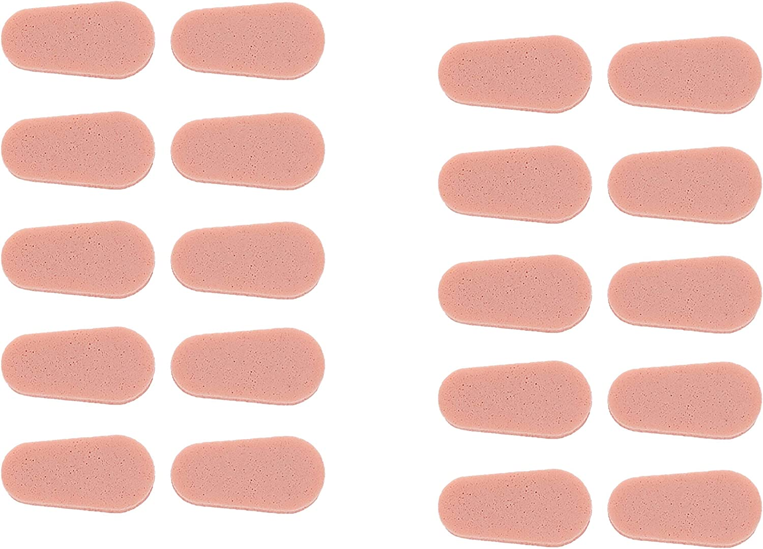 Epad Stick On Adhesive Soft Foam Nose Pads for Glasses (2-Sheet Pack - 20 Pads, Peach)
