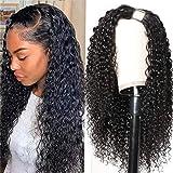 UNice Hair U Part Wig Human Hair Curly Wigs for Black Women Brazilian Virgin Hair Half Wigs Glueless Full Head U Shape Clip i