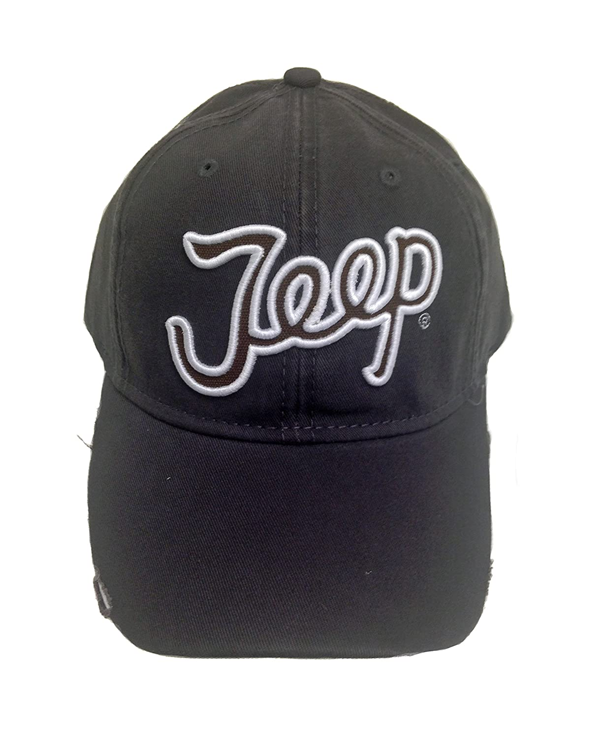 Amazon.com  Jeep 3D Script Charcoal Cap  Clothing affc61f586bd