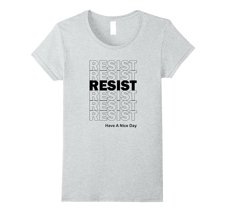 Resist American Resistance Liberal Activist T-Shirt Rise Up