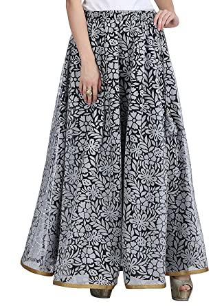 0f8ad0d3c Image Unavailable. Image not available for. Color: Indian Handicrfats  Export Women's Net Double Layer Long Skirt ...