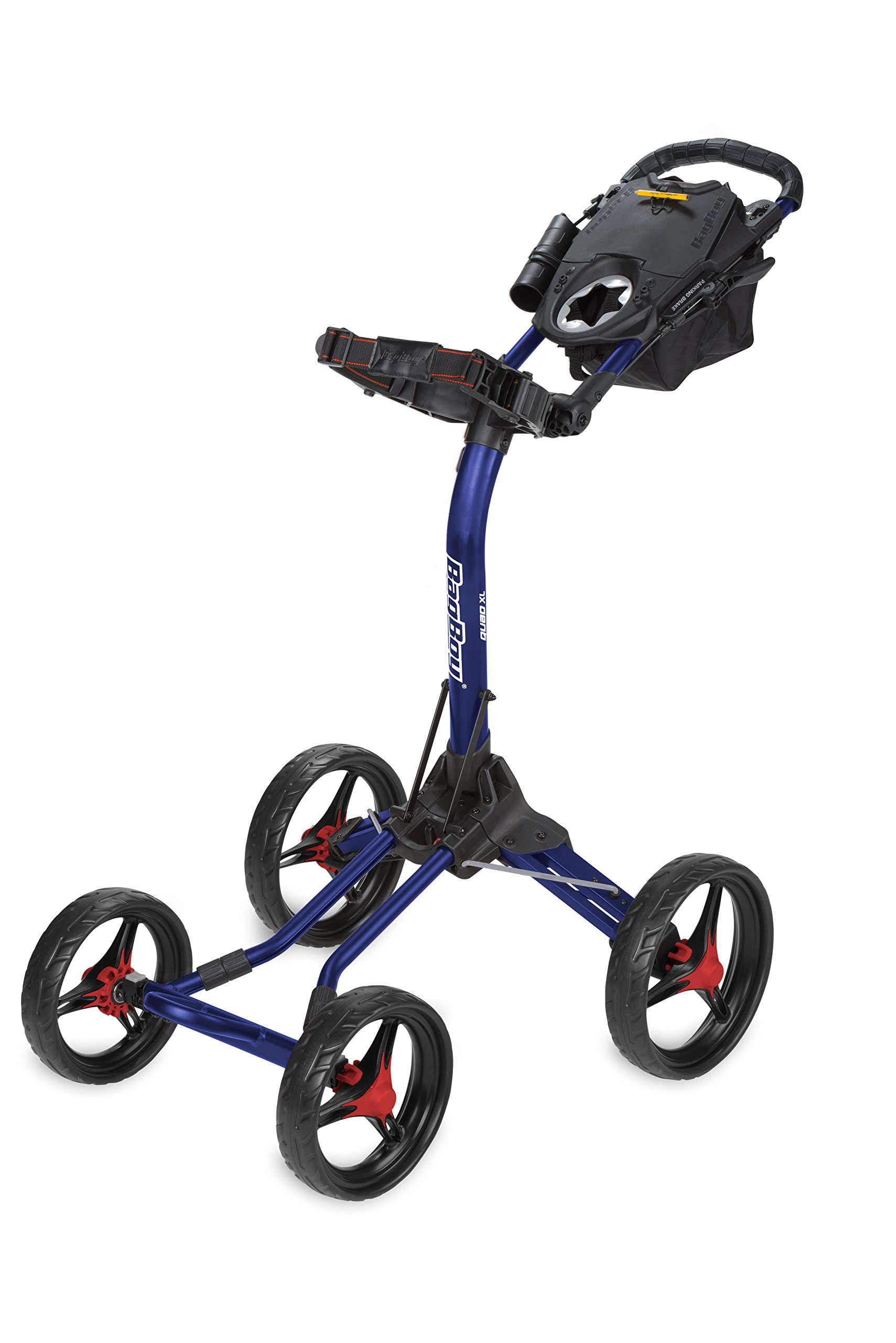 Bag Boy Quad XL Push Cart - Navy/Red