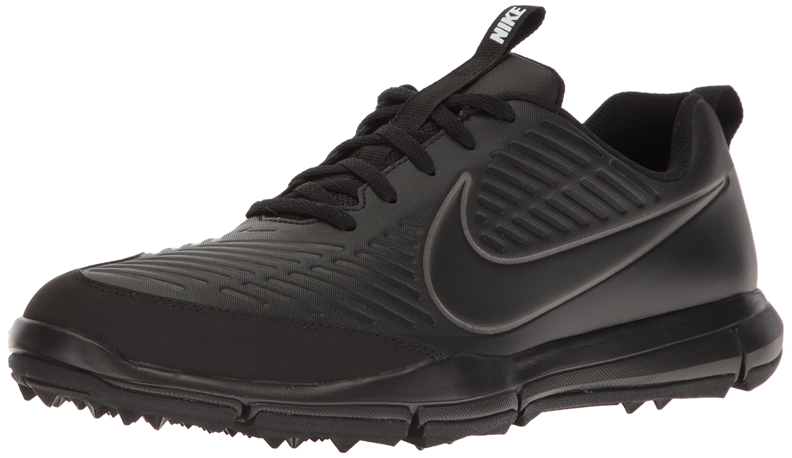 NIKE Men's Explorer 2 Golf Shoe, Black/Black/Metallic Dark Grey, 8 M US