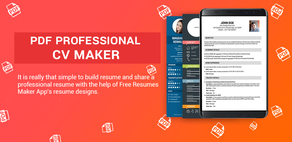 Amazon Com Curriculum Vitae Resume Builder With Cv Template Appstore For Android