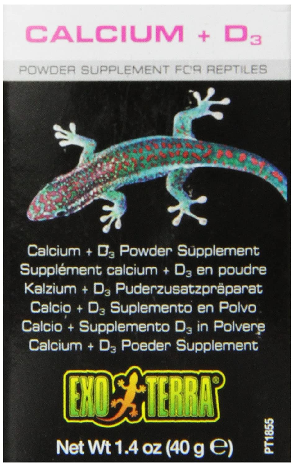 Exo Terra Calcium + D3 Powder Reptiles Supplement, 1.4-Ounce PT1855