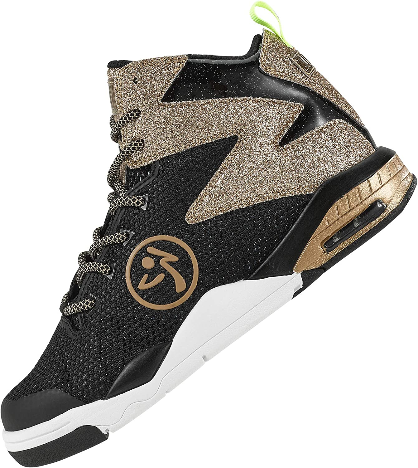 Zumba Air Classic Remix Sportliche High Top Tanzschuhe Damen Fitness Workout Sneakers Golden