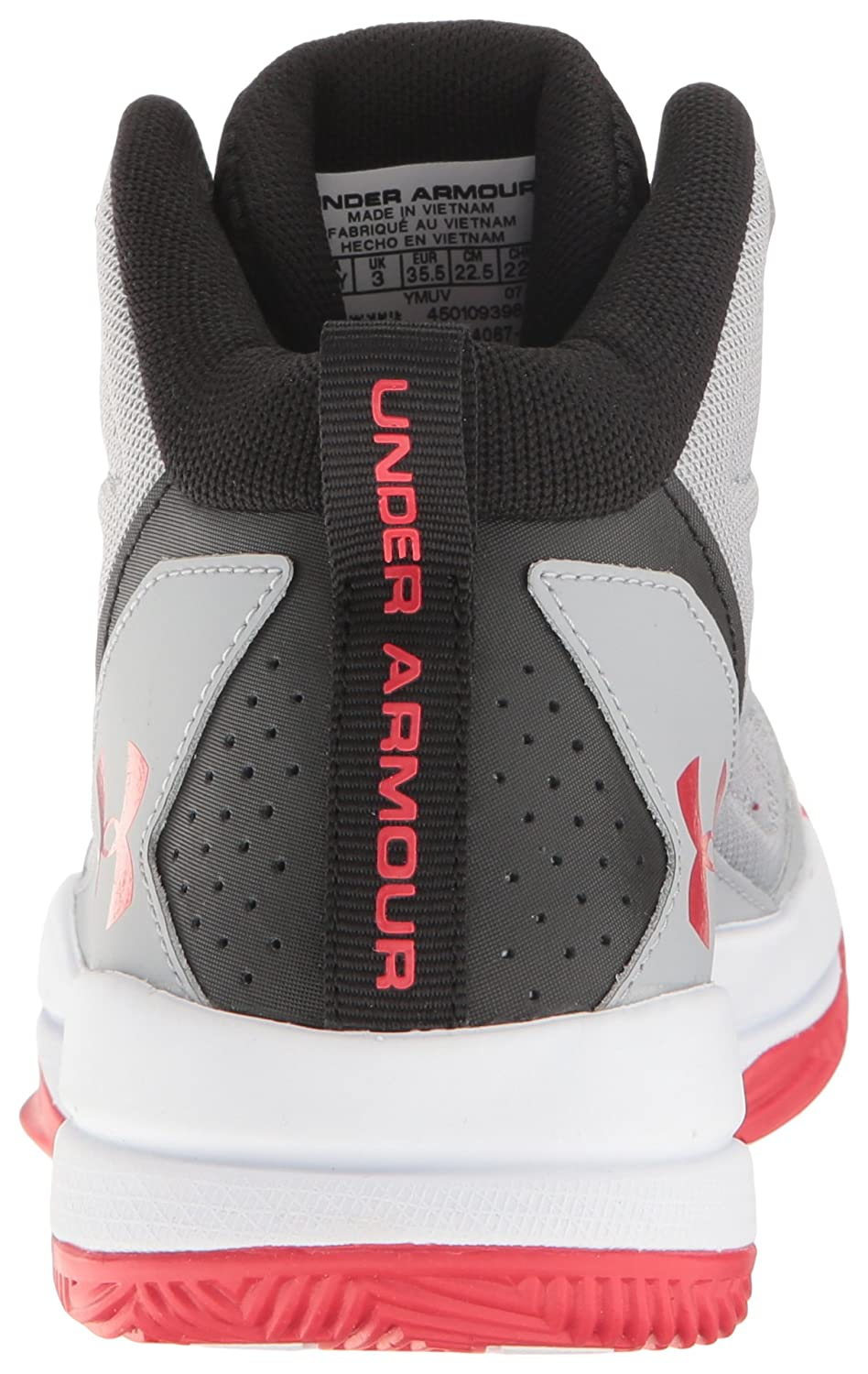 Amazon.com: Under Armour Mens Grade School Jet Mid Basketball Shoe, Overcast Gray (941)/White, 4.5: Shoes