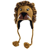 Nirvanna Designs CHNLION Lion Hat with Fleece, Tan, Toddler